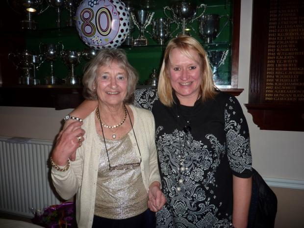 BIRTHDAY CELEBRATIONS: Shirley O'Donovan and her daughter Helen