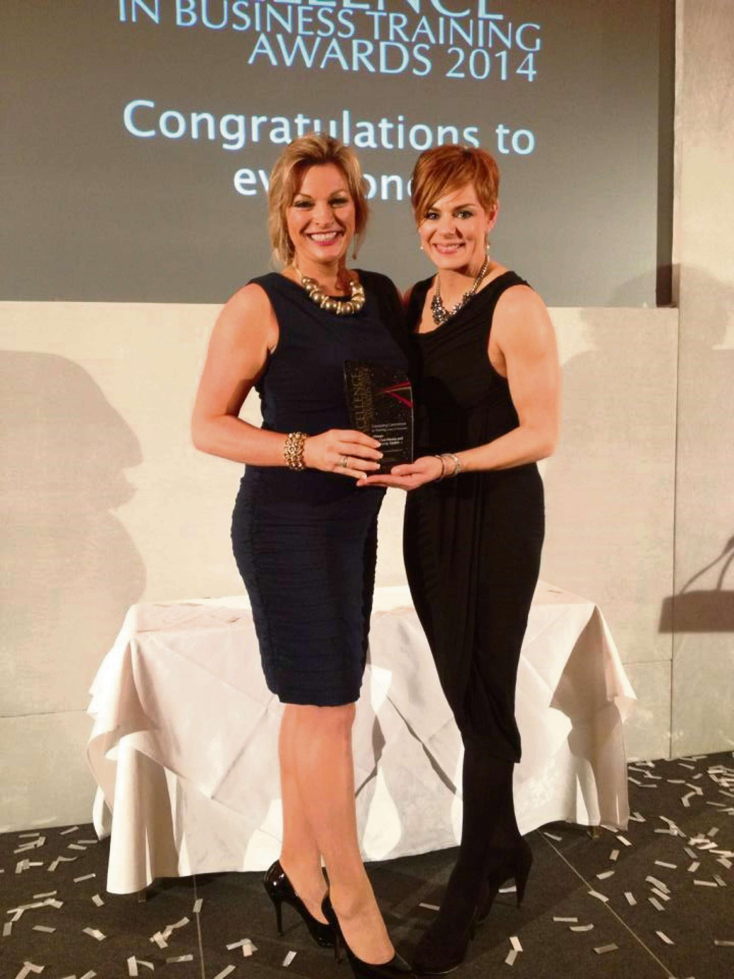 AWARD: Helen Tite and colleague Becky Full