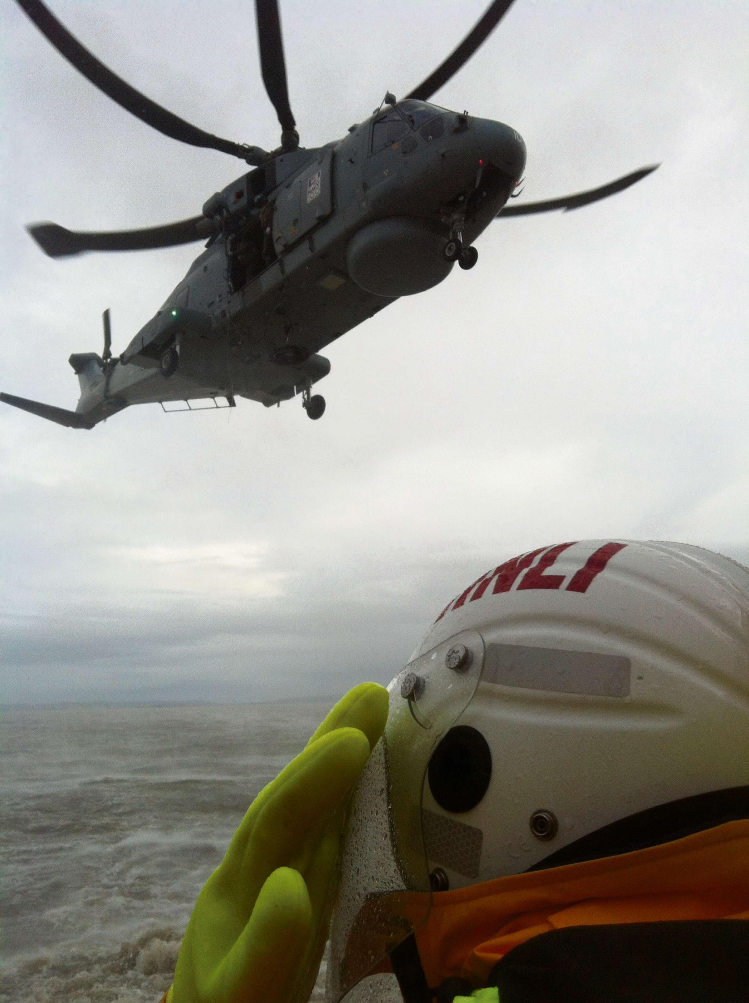 Lifeboat crew put skills into operation