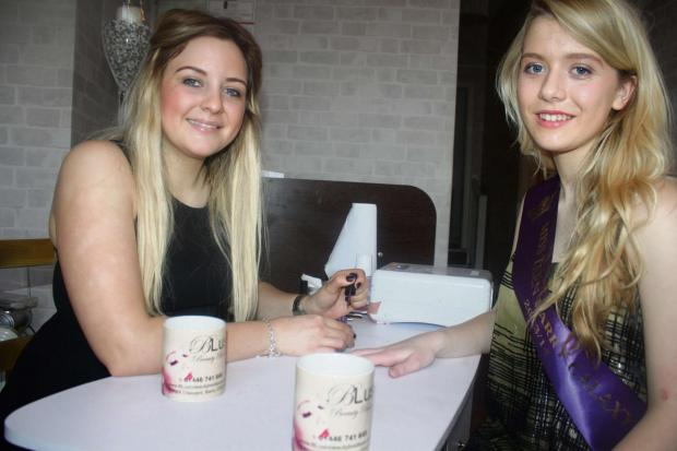 Barry And District News: BEAUTY QUEENS: Holly Bennett and Millie Charles Davies