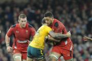 PARTNERS IN CRIME: Taulupe Faletau carries hard with Dan Lydiate in support