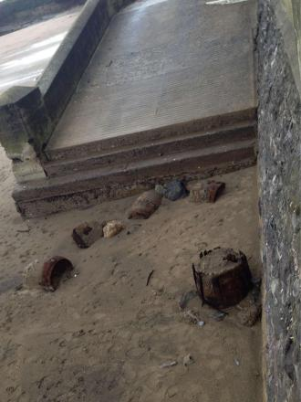 WASHED UP: Sand levels drop and barrels emerge at Whitmore Bay