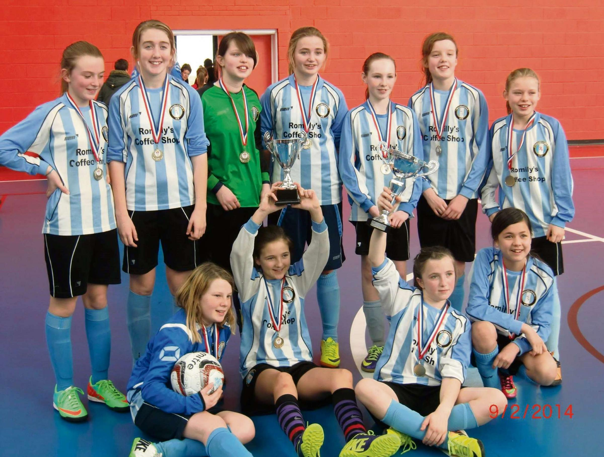 CUP WINNERS: In just their second season, an under-12 side has created a bit of history as the first Vale Ladies' & Girls' Football Club team to win a cup.