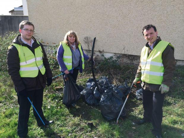 Barry And District News: CLEANING UP: Ground force at work