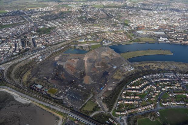 Barry And District News: AERIAL VIEW: Work on the Barry Waterfront Development is forging ahead