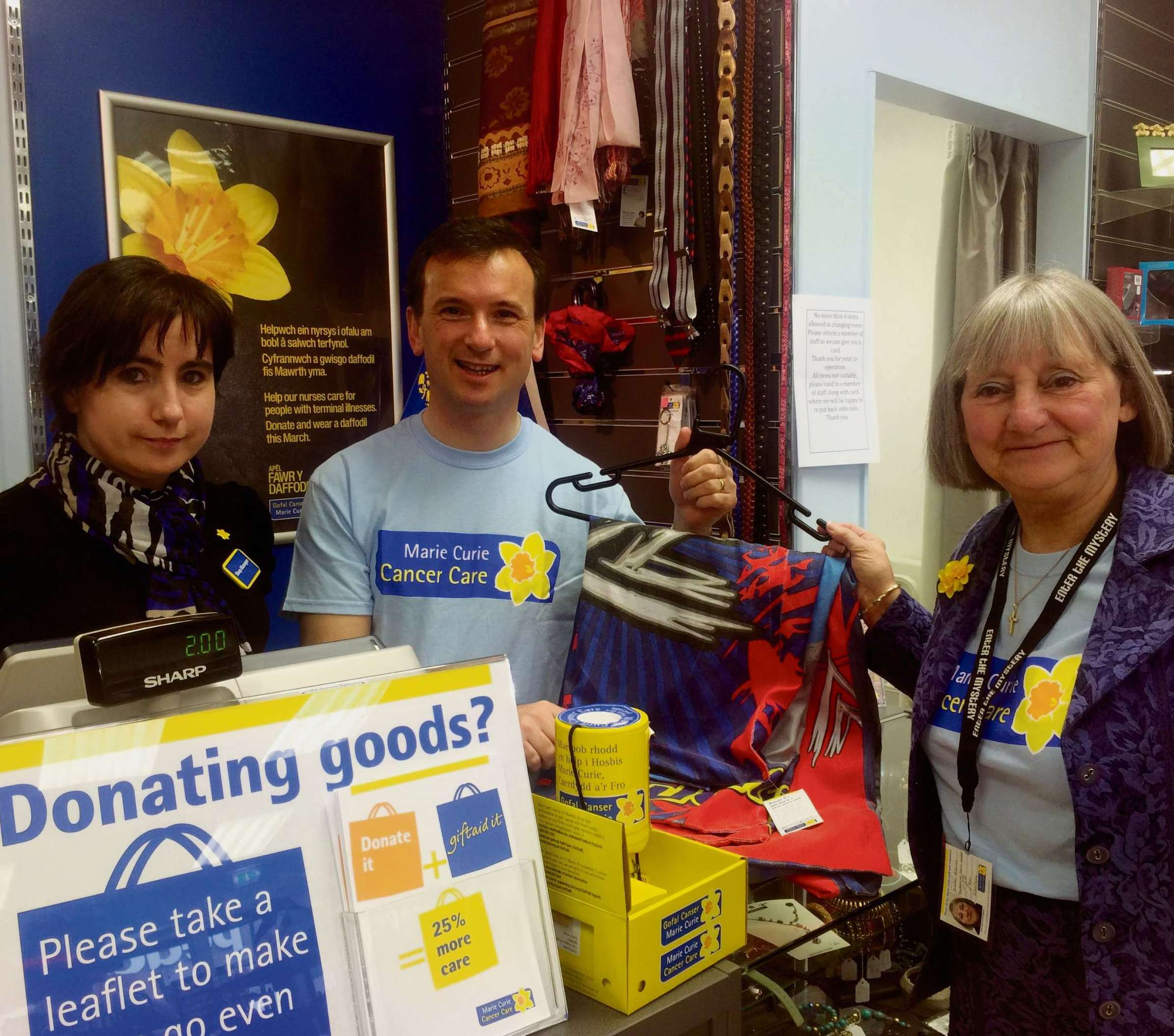 MARIE CURIE: Dawn Parsons, Alun Cairns and Susan Borges