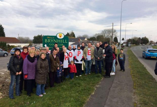 OBJECTIONS: Hope in the Vale and supporters signal housing development objections
