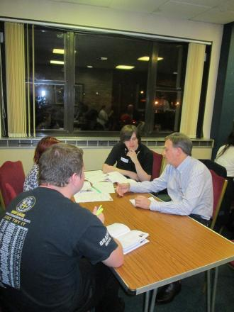 FORUM: Council leader Neil Moore with Vale youth forum members