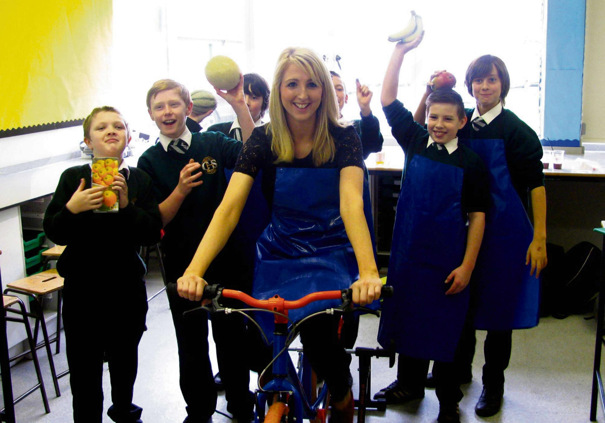 Pupils' smoothie ride to healthy living