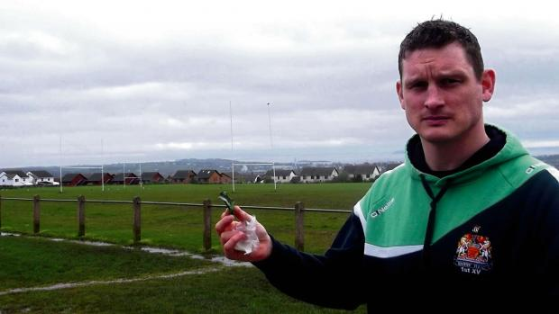 INJURED: David Provis at the Reservoir Field, Barry