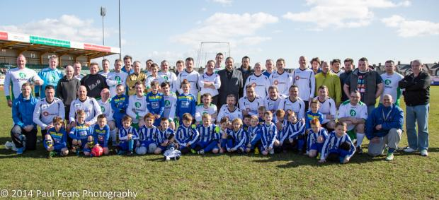 FOOTBALL: The Ty Hafan Dads played against Dan Evans / Palms Bistro FC during the 'Elder Classico' at Jenner Park