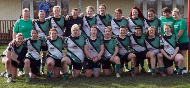 Barry And District News: CUP SUCCESS: The Barry women's rugby side, Bombettes, enjoyed a fine cup win at Gorseinon.