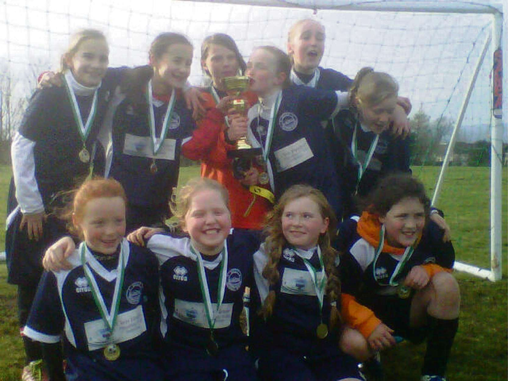 WINNERS! Sully School girls after winning their first competitive tournament