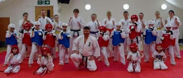 TRAINING BOOST: Thanks to a Admiral Insurance, the Barry Kyokushin Karate Club has been able to purchase special protective equipment to aid the training of young students.