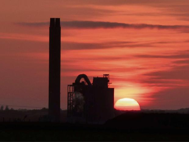 Barry And District News: STUNNING: Aberthaw Power Station at sunset sent in by Andy Fenton via e-mail