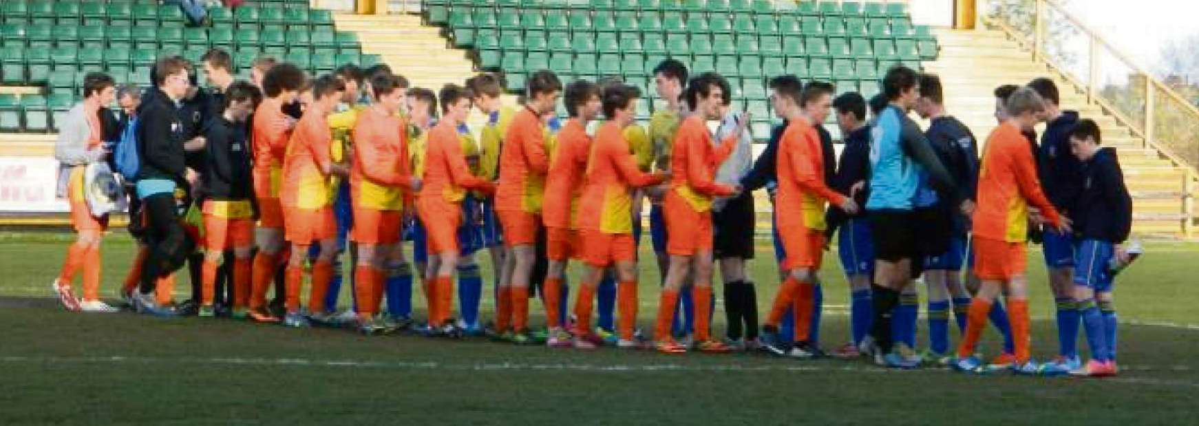 U16s CUP TEAMS: Great rivals Porthkerry Panthers and Llantwit Major before their U16s Cup clash at Jenner Park.