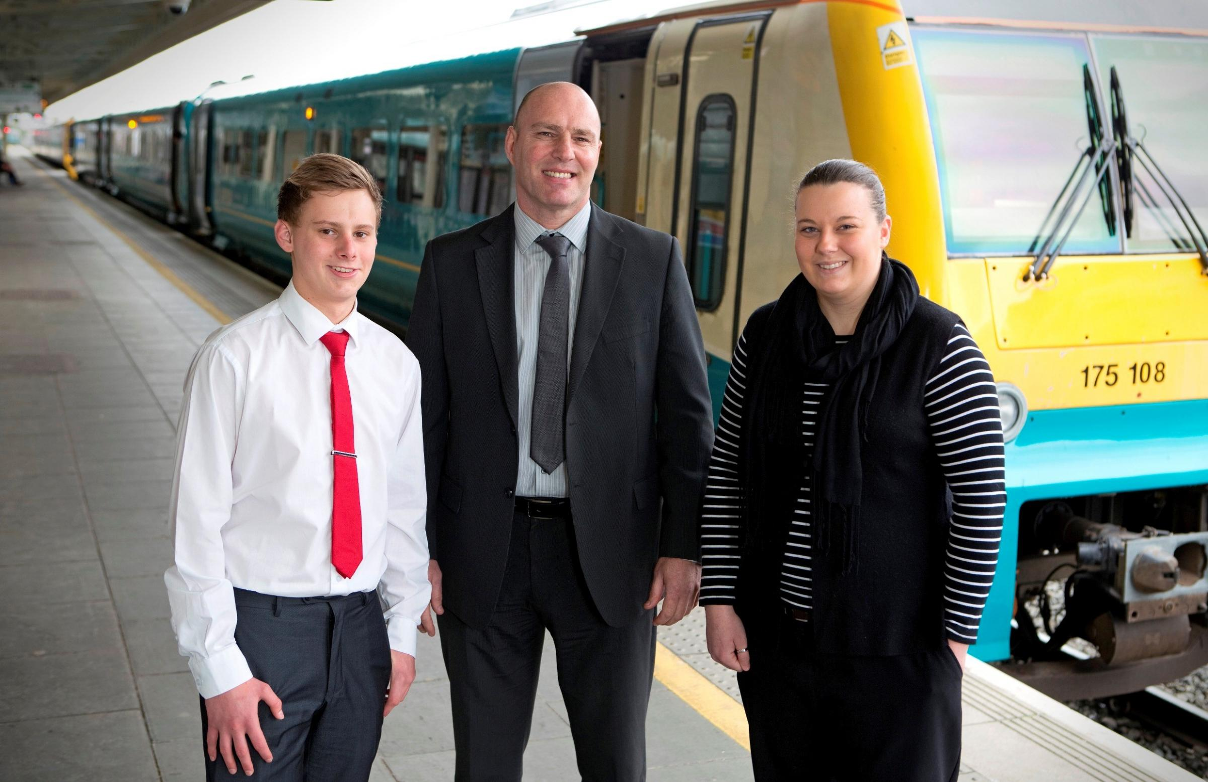ARRIVA: Michael Bond, Steve Badock and Alexis Powell
