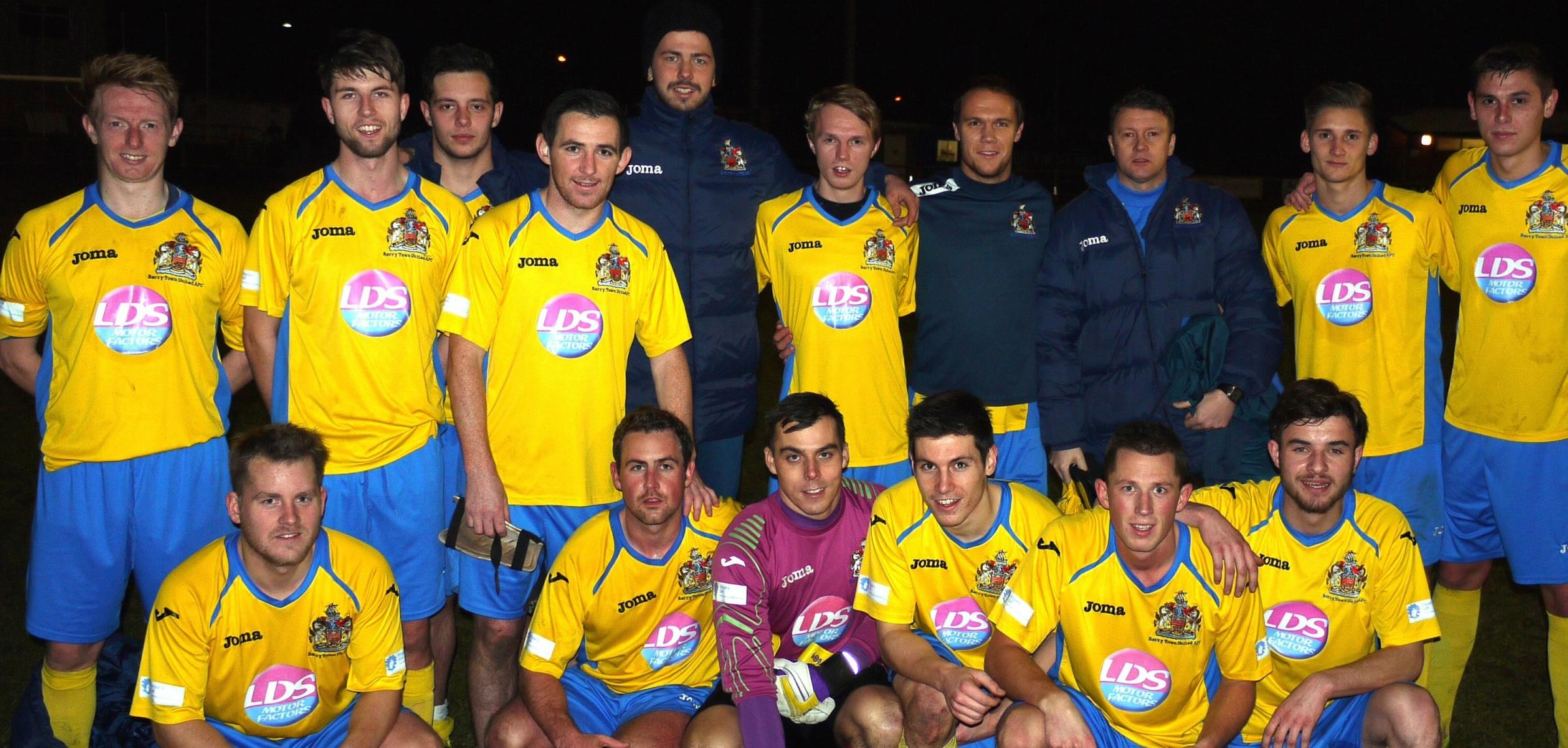 HOME GAMES: Barry Town United players are gearing up for their final home games of a successful season.