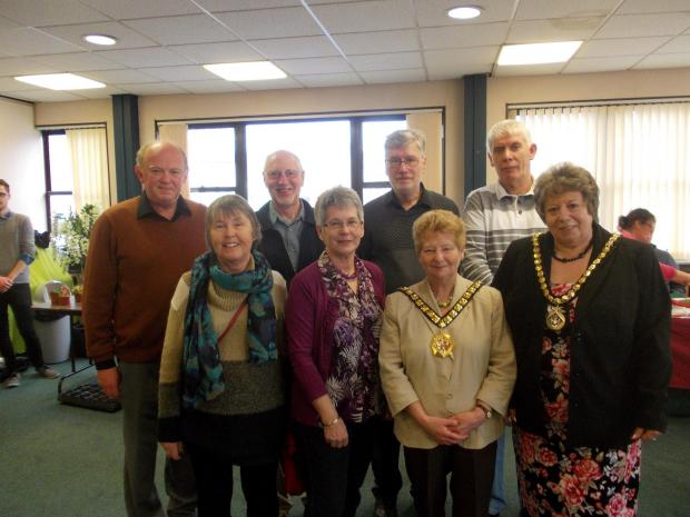 COFFEE TO GO: Mayor, Cllr Margaret Wilkinson, consort Jane Norman and ValePlus trustees