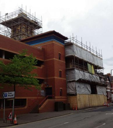 FACELIFT: Restoration work at the old Fire Station, Court Road, Barry (5947676)