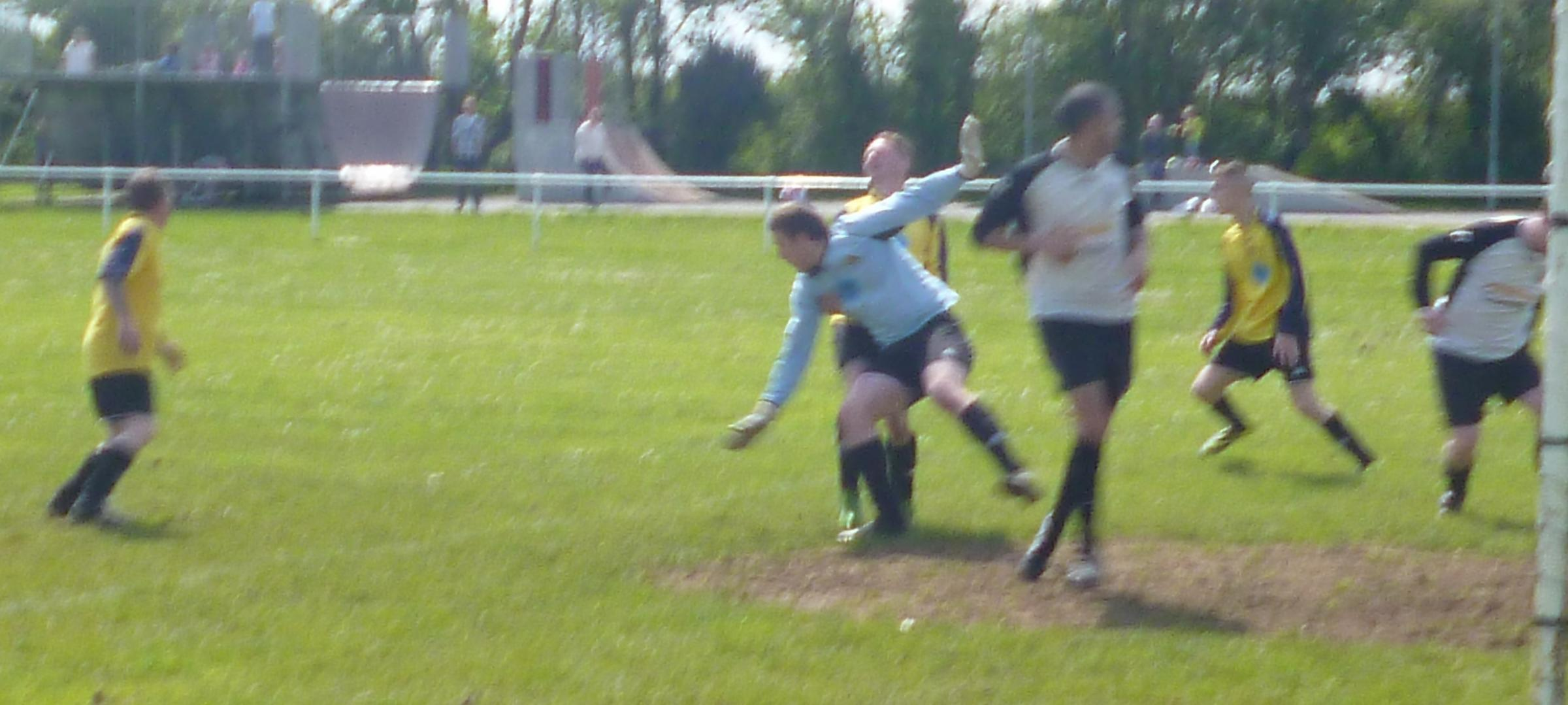 SEVEN GOALS: First Division champions Sully Sports on their way to a seven-goal win over St Athan.