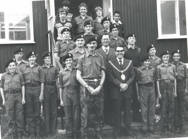 THIS picture of Army Cadets was submitted by Edward Fearn (pictured front row, sixth from left).  Does anyone recognise any of the faces. If you do write to the Barry & District News, 156 Holton Road, Barry CF63 4TY or email barrynews@barryanddistrict