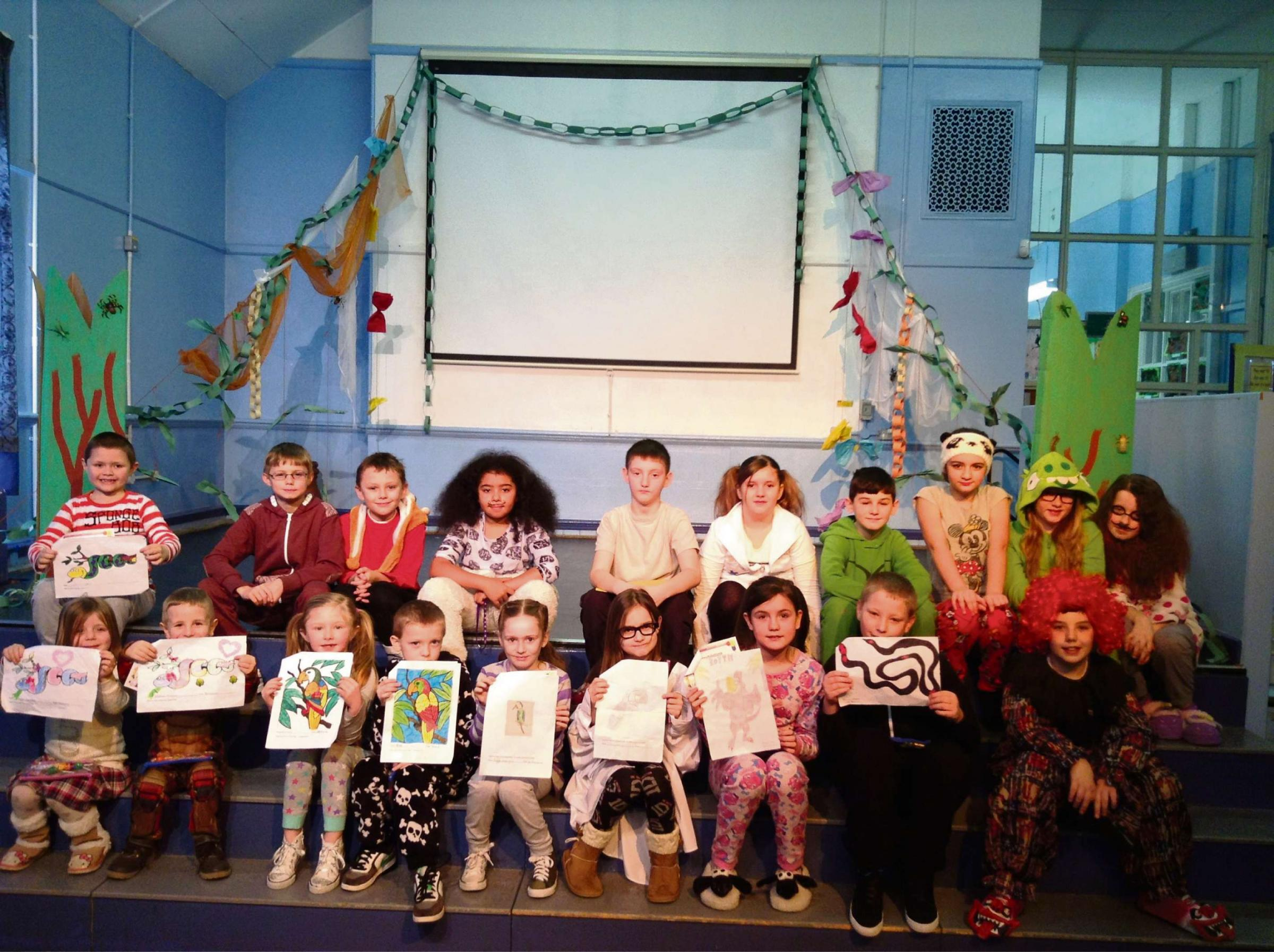 SILLY MONEY: Jenner Park pupils help worthy causes