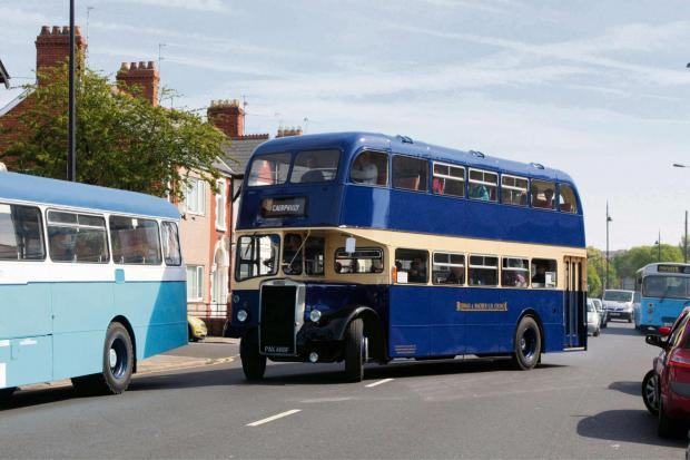 Barry And District News: HERITAGE: The Bedwas and Machen bus leaves for Barry Island