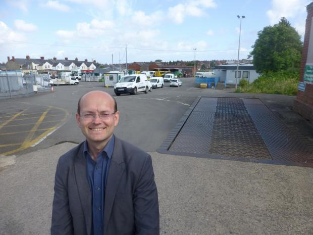 DEPOT: Cllr Johnson at the Court Road site
