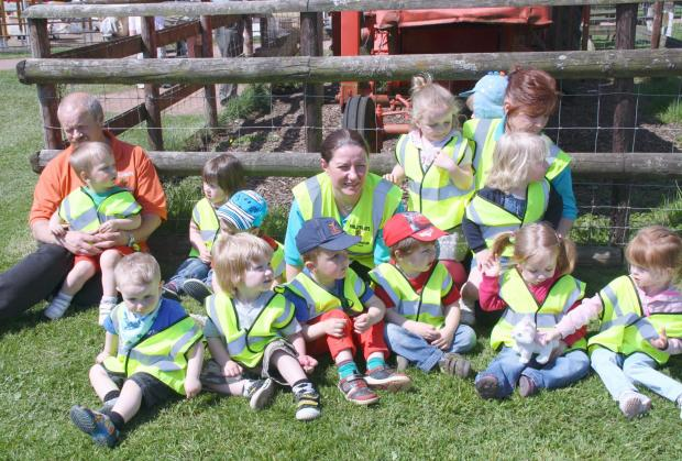 TRIP: Children from PhillyBear's playgroup at Cefn Mably Farm Park in Cardiff