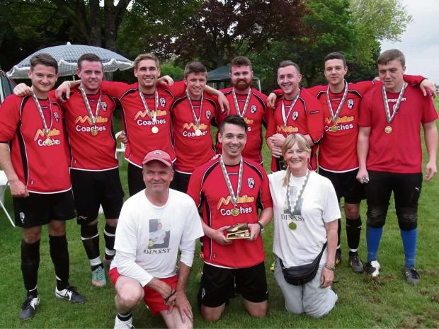 Barry And District News: CHAMPIONS: Winners Lemondownski with Kim and Paul Coombs