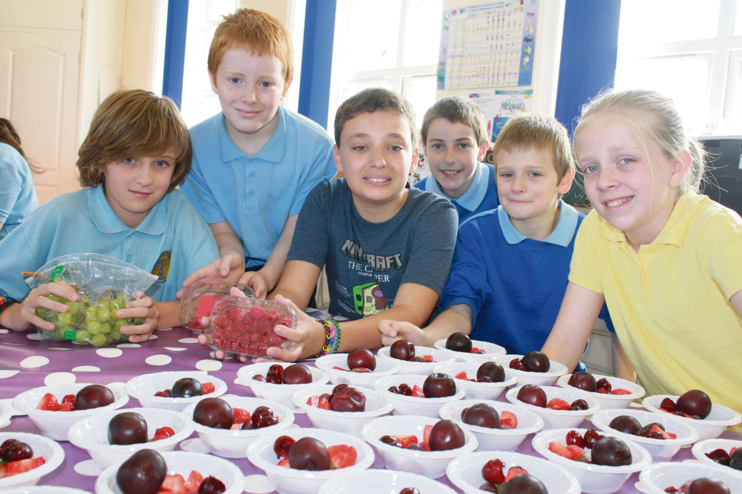 FRUITS OF OUR LABOURS: Cadoxton primary pupils exercise portion control