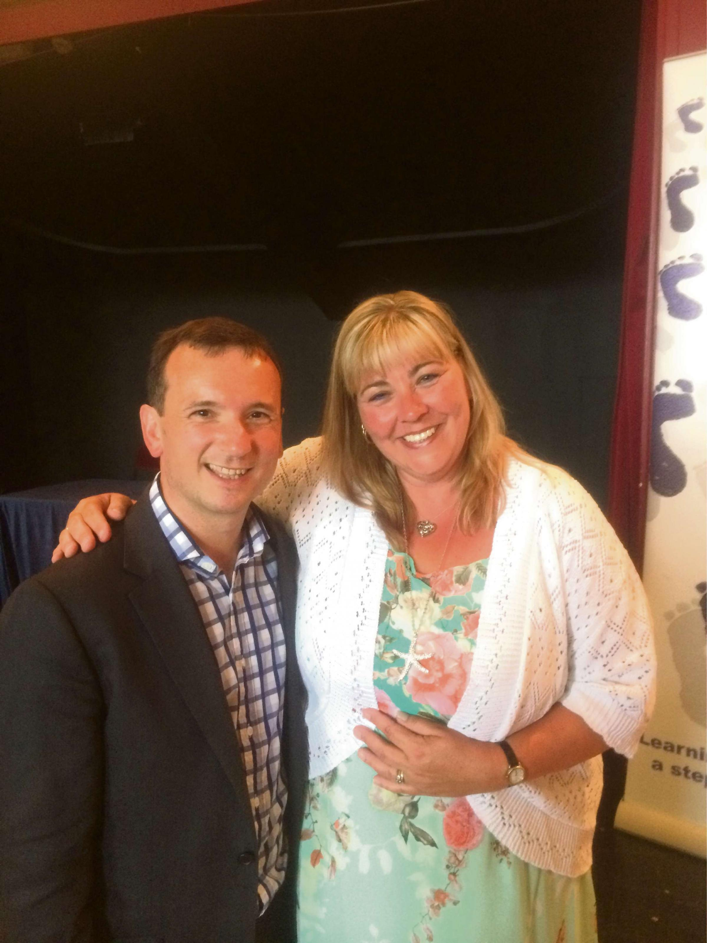 INSPIRATION: Vale MP Alun Cairns and Clare Tyne
