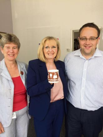 VISIT: Chris Elmore and Jane Hutt with MP Margaret Curran (8176805)