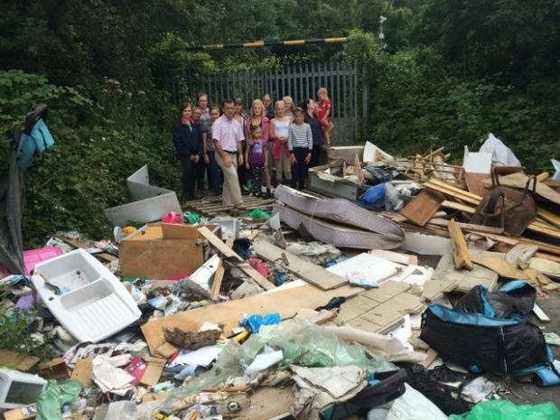 DUMP: Fly-tipping at Wenvoe