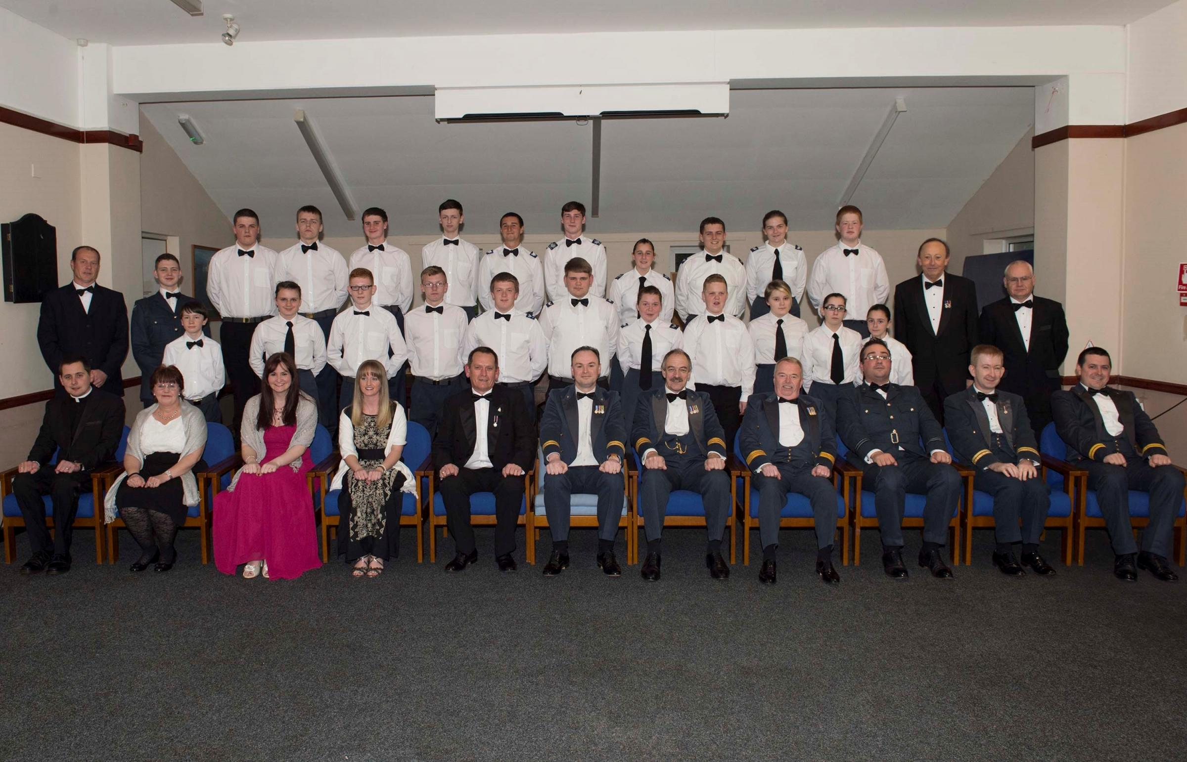 DINING IN NIGHT: Members of 372 (Barry) Squadron Air Training Corps and guests