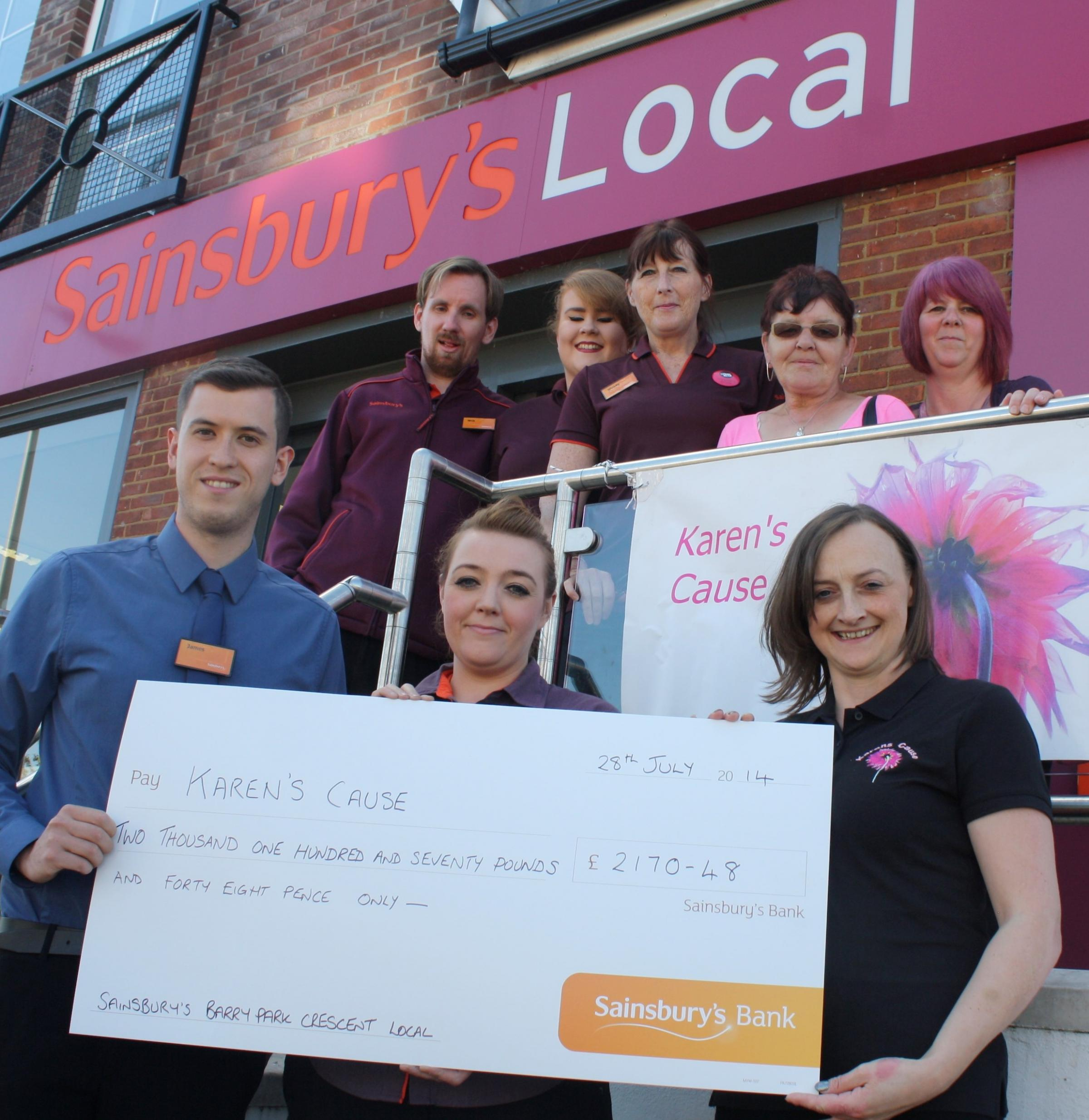 CUSTOMER SATISFACTION Shoppers have given full support to Barry-based charity Karen's Cause (8718415)