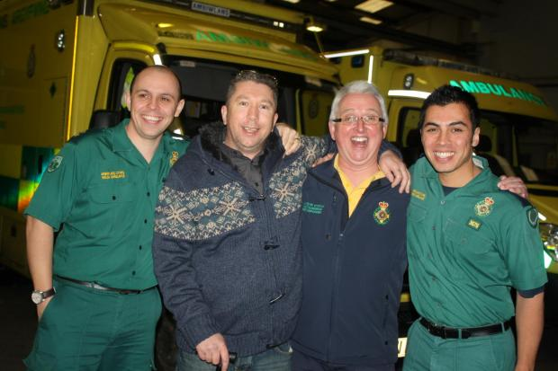 LIFE-SAVING TEAM: Steve Magee, Wayne Jones, Bryan Foley and Adrian Pagano   (8998561)