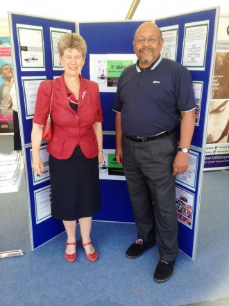 PROJECT: Jane Hutt AM with Jamie Baker from VCVS at the Eisteddfod