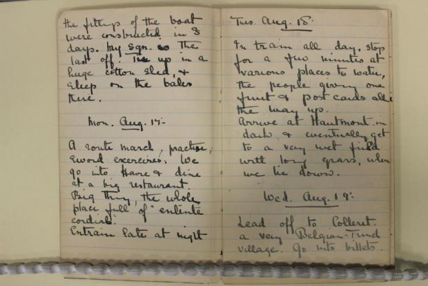 HISTORY: A diary that is available to view at Glamorgan Archives