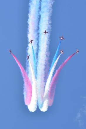 ISLAND: VIEW: Red Arrows will be performing a display at Barry Island on Saturday, August 30