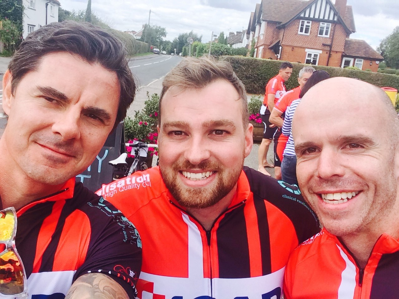 Gavin 2 Stacey riders complete the course
