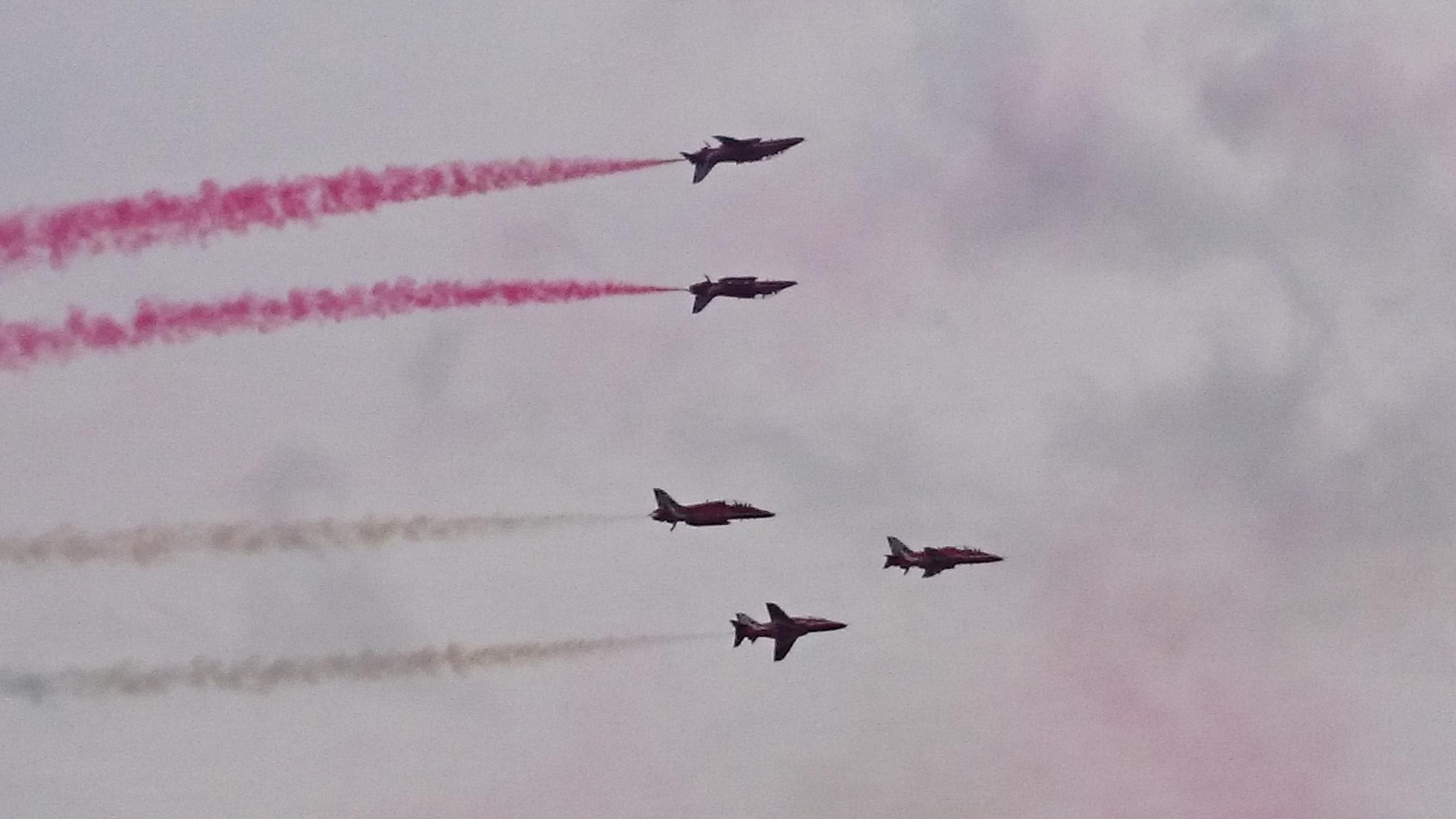 Red Arrows display spectacular