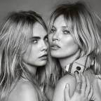 Barry And District News: Cara Delevingne and Kate Moss star in the latest My Burberry Campaign (Burberry/Testino)