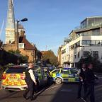 Barry And District News: Police at the scene where a teenager was stabbed to death in south London