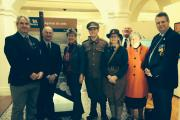 EXHIBITION: Jane Hutt AM at Art Central with supporters of the exhibition including RNLI representatives