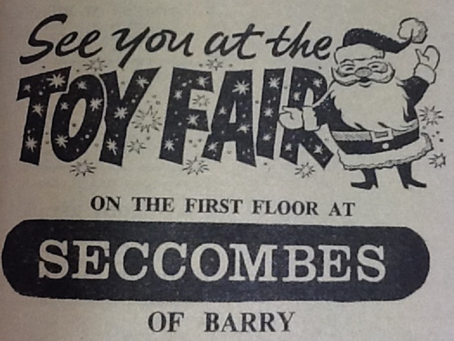SANTA: An advert from the Barry & District 1964