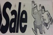 Hurry a sale is on