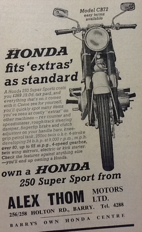 A 1965 advert for Honda