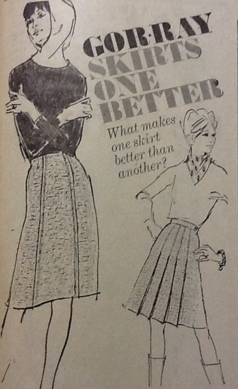 Better skirts, an advert from Barry & District News 1965
